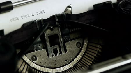 time machine : Once Upon A Time Typed Side (HD). Once Upon A Time being typed on Vintage 1940s typewriter