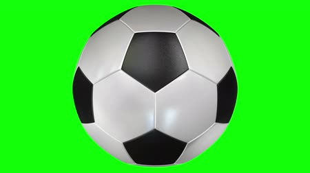 tigela : Soccer Ball Rotating Loop 3D Green Screen