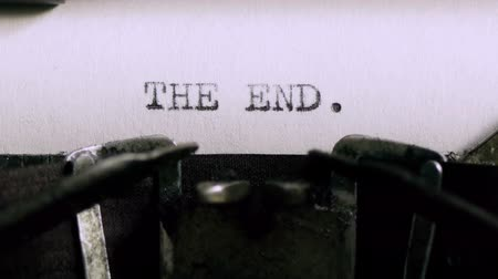 galo : Typing The End (HD). THE END being typed and centered on Vintage 1940s typewriter. Ambient audio Included. Stock Footage