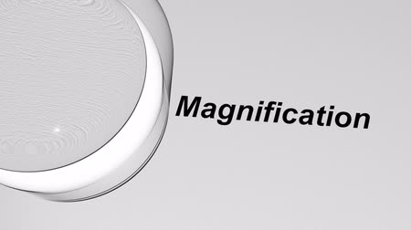refraksiyon : Magnification With Loupe 3D Animation. Stok Video