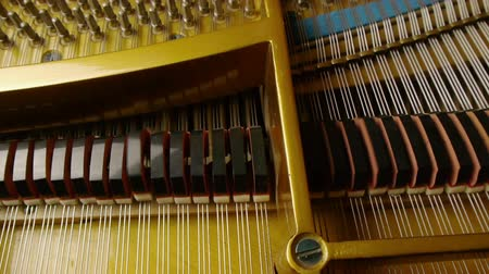 piyano : Musical Strings and Grand Piano Keys With Motorized Dolly Motion.