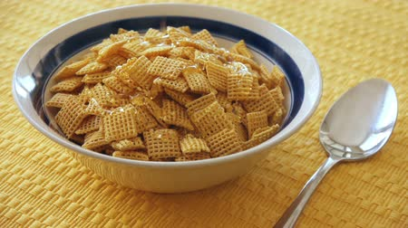 mel : Cereal Squares With Honey Dripped