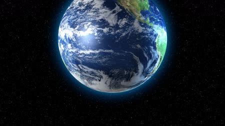 atmosphere : 3D animation of Earth rotating.