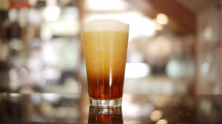 pint glass : Beer Pour Timelapse Stock Footage