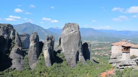 kalambaka : The rocks on which the monasteries of Meteora are located.