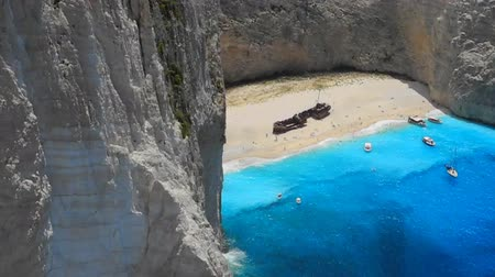 zante : Shipwreck Beach, Zakynthos Island, Greece. Stock Footage