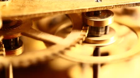 Close up of Clock Mechanism 影像素材