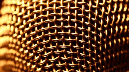 voz : Close up of Microphone Stock Footage