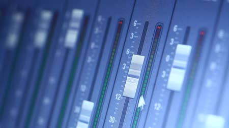 vetor : Record Studio controls Stock Footage