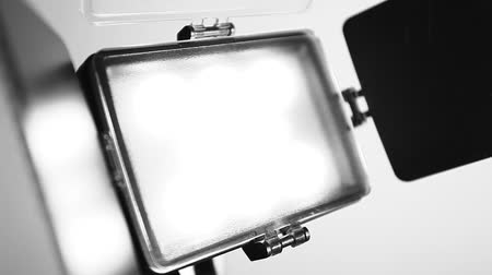 fényképész : Video Light Stock mozgókép