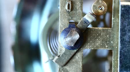 mecânica : Clock mechanism Close-up Stock Footage