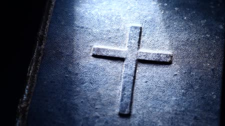santo : Antique Holy Bible Stock Footage