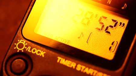 pm : Close up of a digital timer lcd