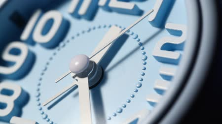 clock hands : Close up of a modern analog clock face  Stock Footage