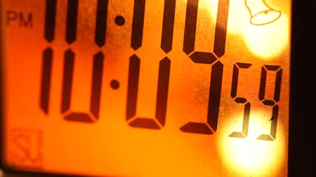 minuto : Close up of a Digital timer clock