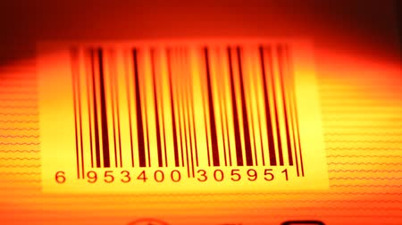 сканирование : Close up of a standard barcode label