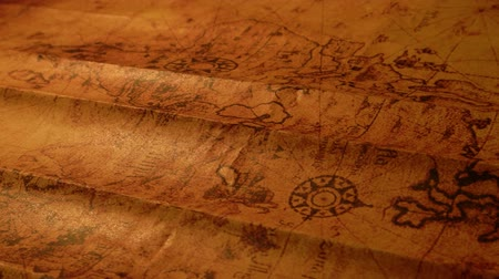 antika : Close up of a vintage old map