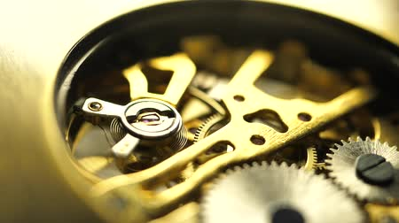 pendel : Close up of an internal clock mechanism