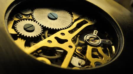 mekanizma : Close up of an internal clock mechanism