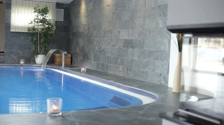 banyo : Interior of wellness and Spa swimming pool.