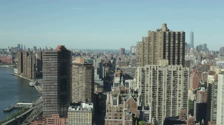 východní : Timelapse of Midtown Manhattan and East River in New York City, USA.