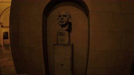 philosopher : Washington DC, USA - 16 May 2015: The bust of Vaclav Havel at US Capitol.