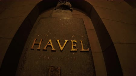 philosopher : Washington DC, USA - 16 May 2015: The bust of Vaclav Havel in US Capitol.