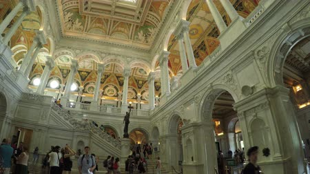 congres : Washington DC, USA - 16 mei 2015: De Grote Zaal interieur van de Library of Congress in het Capitool.