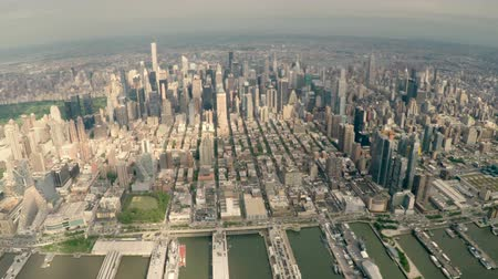 américa central : Aerial view of Midtown Manhattan cityscape in New York City, USA.