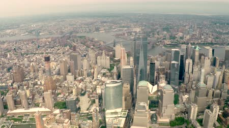 us bank tower : Aerial view of the Lower Manhattan cityscape in New York City, USA.
