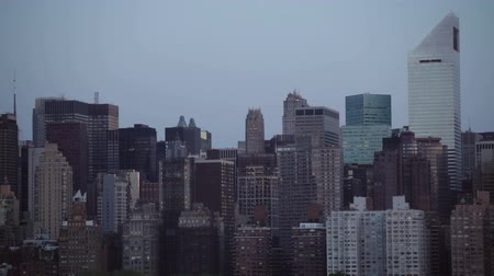 Midtown Manhattan skyline with clear sky in the morning, New York City, USA.