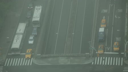New York City, USA - 19 May 2015: Traffic waiting on the First Avenue, East 42nd Street and FDR drive on Midtown Manhattan.