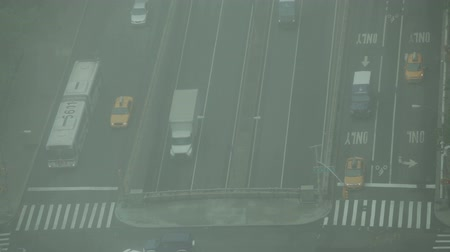 New York City, USA - 19 May 2015: Traffic on the First Avenue, East 42nd Street and FDR drive on Midtown Manhattan.