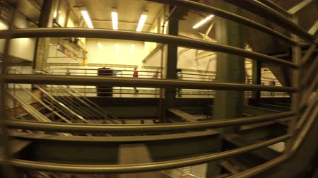 New York City, USA - 20 May 2015: Stairs and corridor inside New York City Subway station on Midtown Manhattan. Dostupné videozáznamy