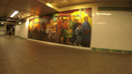 New York City, USA - 20 May 2015: Corridor inside New York City Subway station on Midtown Manhattan.