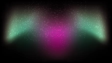 ultraviolet : Black background, pink in the middle left side of the green. Stock Footage