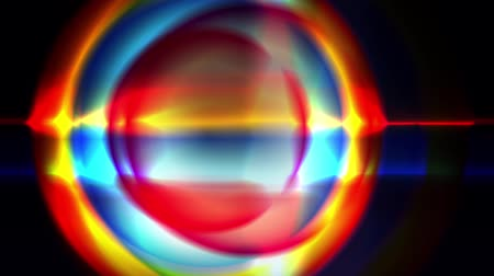glowing hexagon : Rainbow Circle fragmentation and swirled around. Stock Footage
