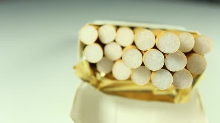 packet : a pack of cigarettes close up rotate clockwise