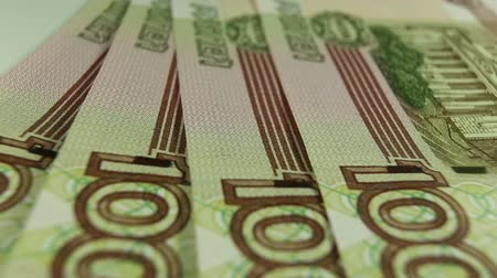 Russian rubles, the money closeup Stock Footage