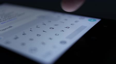 Set SMS on the phone screen close-up Stock Footage
