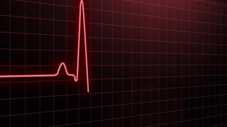 heart rate : Heartbeat pulse in red Stock Footage