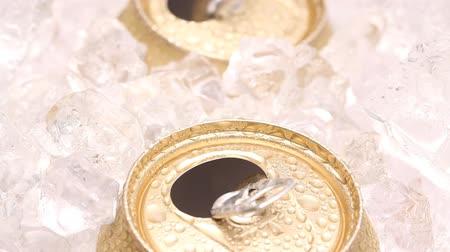 drink cans : Drink can and ice