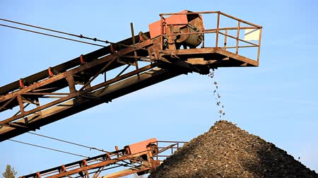 sifted : Conveyor on site at gravel pit.