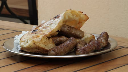 herzegovina : Traditional bosnian food, meetfingers, original name cevapi, grilled dish of minced meat,