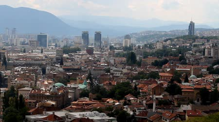 bascarsija : Sarajevo, bosnia and Herzegovina, panoramic view Stock Footage