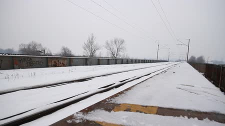 zmrazit : winter railroad track