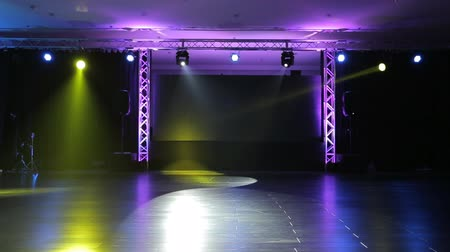 loud music : Stage and Lights  before show Stock Footage