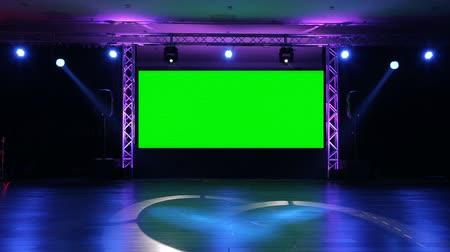 music band stage : Stage and Lights  before show Stock Footage