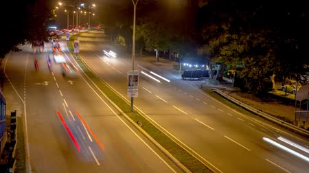 traffic bucharest : KAJANG, MALAYSIA - DECEMBER 13, 2017: Timelapse of traffic in Highway Lekas located in Saujana Impian, Selangor Stock Footage