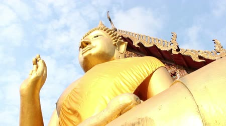 heykel : Giant Buddha, is a sacred right to be respected Stok Video